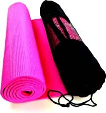 Vellora Anti Skid Yoga Mat for Flooring Exercise for Men and Women (Black)