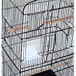 Pet Zone TALL XL BUDGIE COCKATIEL FINCH BIRD CAGE BLACK/WHITE NBH3081 (BLACK) 13