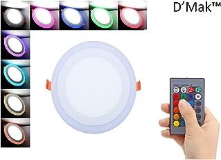 D'MAK 18 Watt Round LED Ceiling Light (White+16 Color)