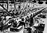 Cars Being Assembled in an Automobile Manufacturing Plant