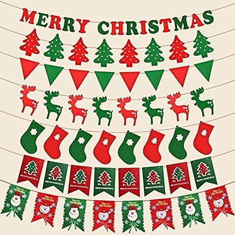 Weihnachten, hängende Flagge Vlies dreieckige Flagge (Schuhkarton-geschenke Für Weihnachten)