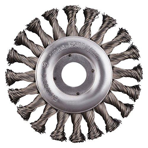 RHODIUS SRBZ Ø 125 mm EN 1083-2 2 Stück Rundbürsten gezopft Ø Winkelschleifer Zopfbürste Scheibenbürste Stahlbürste
