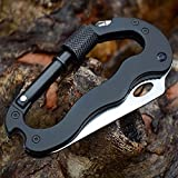 XLDouZi Self Defense Outdoor Multi-function Tools 5 in 1 Aluminum Climbing Carabiner Security Hook Gear Multi Tool Buckle Rock