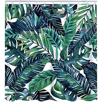 """Cactus Forêt tropicale tissu imperméable rideau de douche salle de bains Set /& crochets 71/"""""""