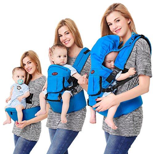 Babytrage Neugeborene ab Geburt, Kindertrage 4 in 1 Multifunktion Ergonomische für Neugeborene und Kleinkinder (3-20 kg) - Mit Schnallen-träger Mei Tai