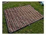 ZFFde Tragbare Picknickdecken Faltbare Schlafmatte Rasen Matte Picknick-Matte Camping Decke Wasserdicht Anti Sand Mat für Reisen (blau) (Farbe : Coffee, Größe : 200x200cm)