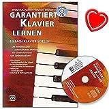 Garantiert Klavier lernen - Klavierschule von Morton Manus mit CD und bunter herzförmiger Notenklammer - erfolgreiche, deutschsprachige, Klavierschule für Erwachsene