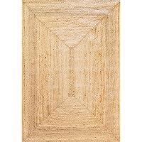 Alfombra Yute Alhambra color natural - Alfombra 100% fibra de yute (Natural, 120x170cm)