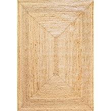 Alfombra Yute Alhambra color natural - Alfombra 100% fibra de yute (Natural, 200x300cm)
