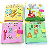 #4: iDream Soft Cloth Book Letters Numbers Shapes Animals for Kids (Pack of 4)