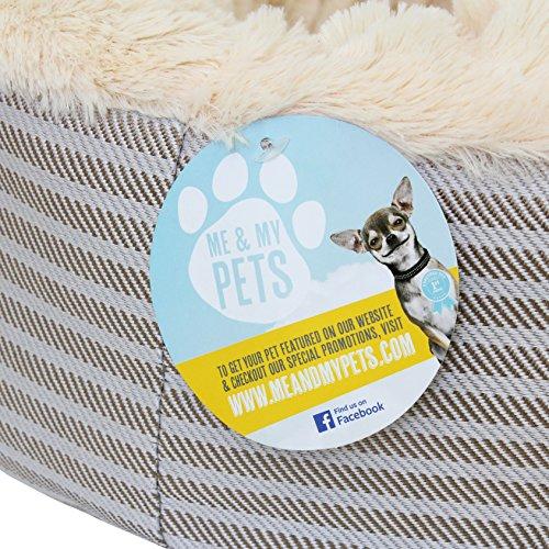 """Me & My Pets Herrlich weiches Haustierbett """"Donut"""" für Katzen, Welpen und kleine Hunde - 2"""
