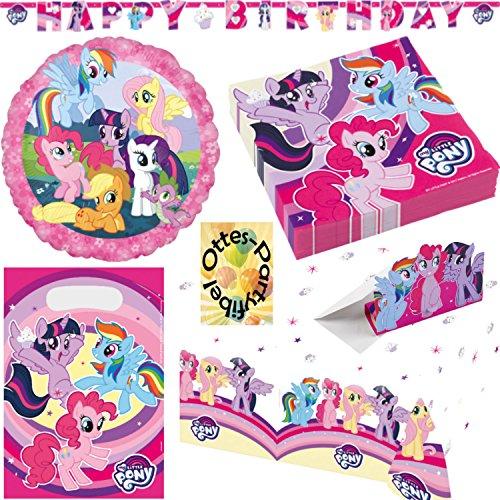 et 55tlg. für 16 Gäste Servietten Tischdecke Tüten Einladung Folienballon Happy Birthday Banner ()
