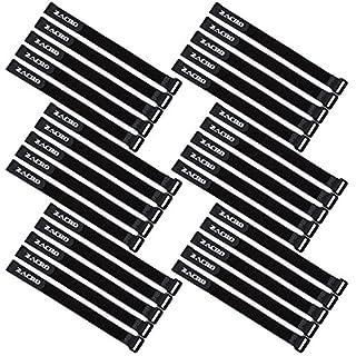 Zacro 30 PCS 300x20mm wiedervervendbare Klettkabelbinder mit Klett Kabelklett Seilklett Veranstalter mit Klettverschluss,leichte Reihe,Ideal für den vielseitigen Einsatz im Kabelmanagement