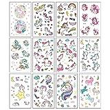 25 Fogli Tatuaggi Temporanei Unicorno Per Bambini Festa Di Compleanno Sacchetto Di Riempimento Impermeabile Tatuaggi Unicorno