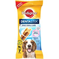 Pedigree Dentastix Medium Breed (10-25 kg) Oral Care Dog Treat, 180g Weekly Pack (7 Chew Sticks)