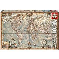 "Educa 16764 - Political Map Of The World ""Miniature"", Puzzle 1000 Pezzi, 46 x 30 cm"