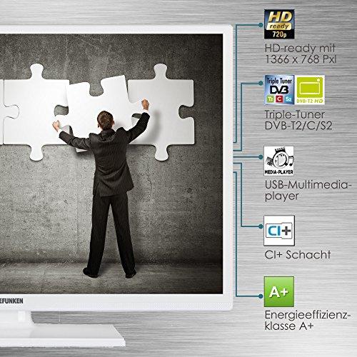 Telefunken XH24D101-W 61 cm (24 Zoll) Fernseher (HD Ready, Triple Tuner) - 7