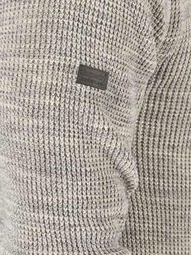 Superdry Homme Gymnase texturé Henley Knit, Gris Gris