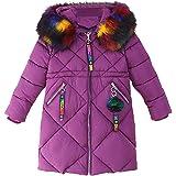 Phorecys Chaqueta de invierno para niña con capucha de piel sintética de 2 a 11 años