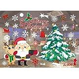 Style Mignon De NoëL,50x70cm'Merry Christmas' ,HUI.HUI Autocollants Muraux Fenêtre...