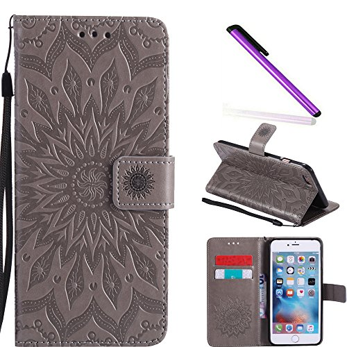 bae08bcd61d COTDINFOR iPhone 6S+ Funda Flores Cierre Magnético Billetera con Tapa para  Tarjetas de Cárcasa Elegante Retro