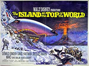 ISLAND AT THE TOP OF THE WORLD 1974 Donald Sinden UK QUAD POSTER
