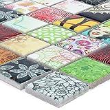 Mosaikfliesen Keramik Dia Bunt | Mosaikstein Badfliesen Bad Wandverkleidung