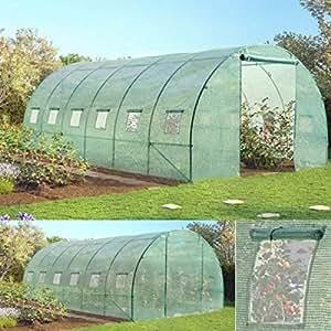 probache grande serre de jardin tunnel 7 arceaux pro. Black Bedroom Furniture Sets. Home Design Ideas