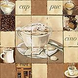 Artland Qualitätsbilder I Alu Dibond Bilder Alu Art 70 x 70 cm Ernährung Genuss Getränke Kaffee Malerei Creme A0ZX Cappuccino Kaffee
