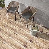 fasloyu leicht anzuwenden DIY Badezimmer/Küche selbstklebend Tile Art Boden Fliesenaufkleber Tapeten, 12Farben für wählen (20x 50cm, 20cm * 500cm) 20 cm * 500 cm F