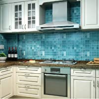 Bluelover Wallpaper Blue Oil Mosaico Impermeabile Wall