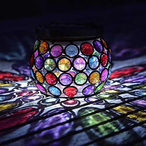 Smart Garden mehrfach leuchtendes Schmuck-Solarglas  (Multi-farbigen Glas-edelsteine)