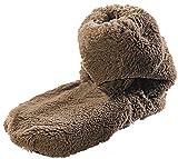 infactory Flausch Pantoffeln: Aufwärmbare Flausch-Stiefel mit Leinsamen-Füllung, Größe 42-44 (Aufwärmbare Hausschuhe)