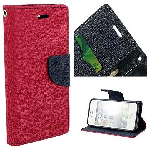 Kabir Mercury Diary Wallet Style Flip Cover Case For Samsung Galaxy S Duos 2 S7562 /S7582 - Red/Blue  available at amazon for Rs.239