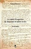 Le cahier d'esquisses de Marivaux et autres textes