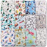 LittleBloom Bebé Pañales Lavables Pañal Reutilizable Insertos, Cierre: POPPER, Set de 12