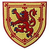 Schottland Wappen Bestickter Kreuz Löwenschild Aufnäher zum Aufbügeln / Annähen