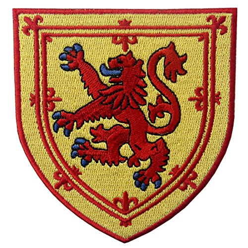 Escudo armas Escocia Escudo león cruzado Parche Bordado