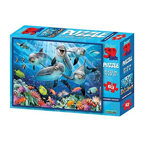 Philos 9031 - Puzle 3D de delfín (63 Piezas)