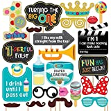 Party Propz 1St Birthday Photobooth Props (24 Pieces) for 1St Birthday Party Supplies,Multicolor