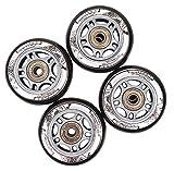 Nils Extreme Rotoli Inline Skates Wheels & pattini a rotelle per cuscinetti a sfera 4pezzi PU 90X 2482a Nero