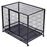 Best Dog Crates - OrangeA Dog Crate 37Inch Heavy Duty Metal Dog Review