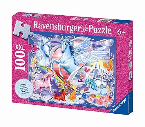 Ravensburger 13928 Gli unicorni più belli- Puzzle con brillantini da 100 pezzi (XXL)