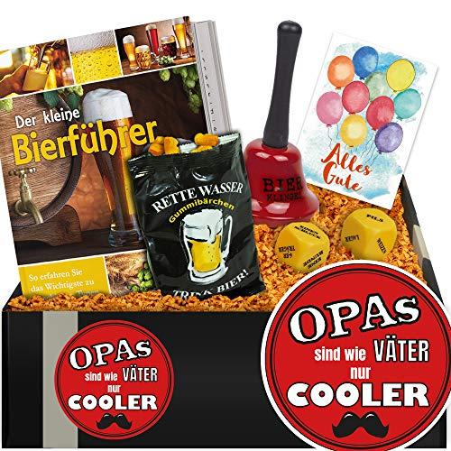 (Opas sind wie Väter nur cooler | Geschenkpaket Biergenuss | Geschenk an Opa)
