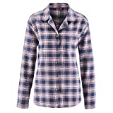 Living Crafts Flanell-Schlafanzug 44, Dark Navy/Winter Rose