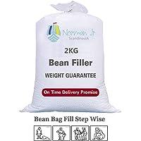 NORMAN JR, 2 Kg Bean Bag Refill/Filler - Moon White