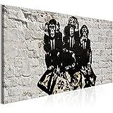 murando Bilder Banksy Affe 150x50 cm - Leinwandbild - 1 Teilig - Kunstdruck - Modern - Wandbilder XXL - Wanddekoration - Design - Wand Bild - Monkey i-C-0124-b-a