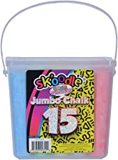 Sk'Oodle Kids Activity Sets Color Jumbo Chalk-Bucket (15 Colour) (Educational Art Set) (Pack Of 2)