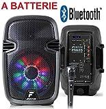 CASSA AMPLIFICATA ATTIVA RICARICABILE 300W BATTERIE + BLUETOOTH + USB/SD E MICROFONO
