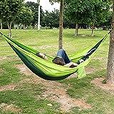 PPOGOO Camping Hamaca 270x140CM 300kg Capacidad de Carga Portátil Ultra Ligera para Viaje y de Nylon de Paracaídas de Secado Rápido